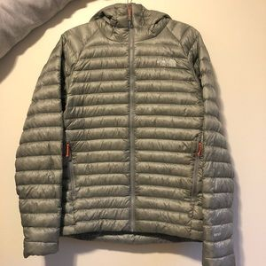 North Face 800 fill hooded jacket / morph hoodie